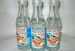 Помощь при отравлении уксусной кислотой