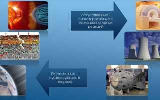 Где встречаются источники радиоактивного излучения