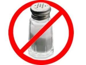Уменьшение количества потребляемой соли