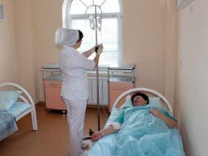 Нахождение в стационаре больного с отравлением