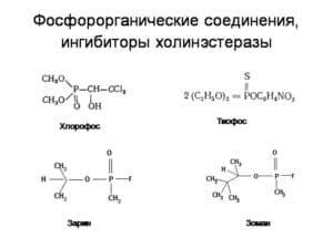 Фосфорорганические соединения, ингибиторы холинэстеразы