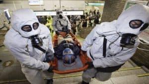 Эвакуация человека с химическим отравлением