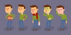 Признаки интоксикации организма