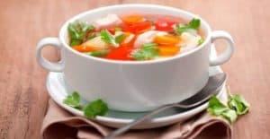 Диетический суп после алкогольного отравления