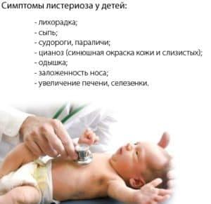 Симптомы листериоза у детей