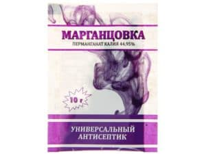Марганцовка как антисептик