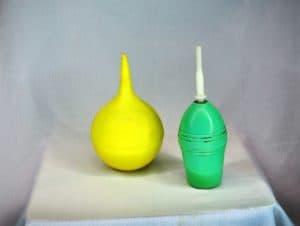 Желтая и зеленая клизмы