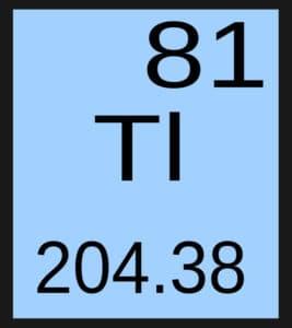 Таллий в периодической таблице элементов