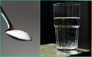 Ложка соли и стакан воды