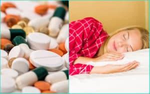 Девушка спит под действием снотворных препаратов