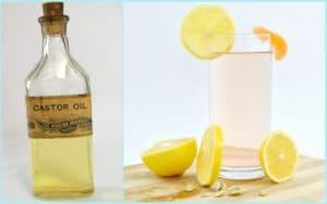 Касторовое масло и лимонный сок