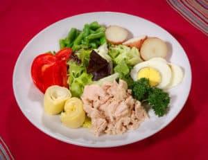 Тарелка с полезной едой