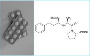 Таблетки и химическая структура эналаприла