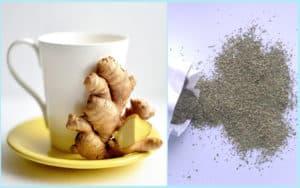 Имбирный чай и трава сенны